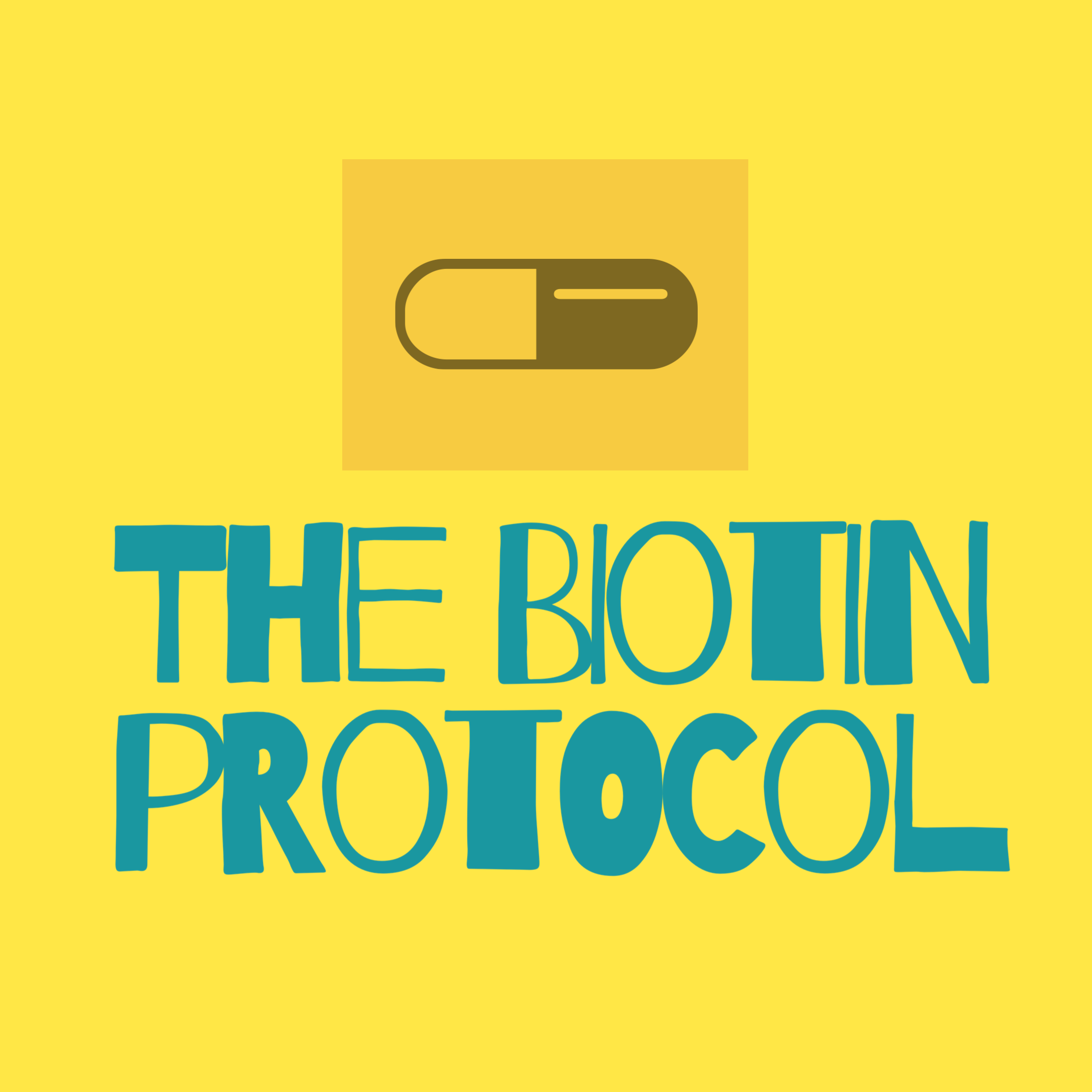 the biotin protocol writen in blue on yellow bacground