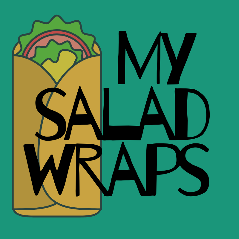 my slad wraps tortill-style on dark green background.